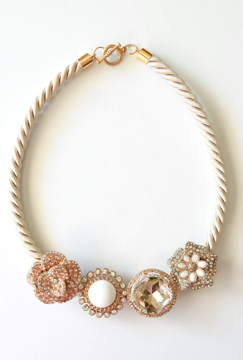 DIY: Anthropologie marjorelle necklace | Life is Beautiful