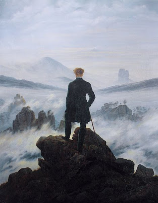 """Il quadro di Friedrich """"Viandante sul mare di nebbia"""""""