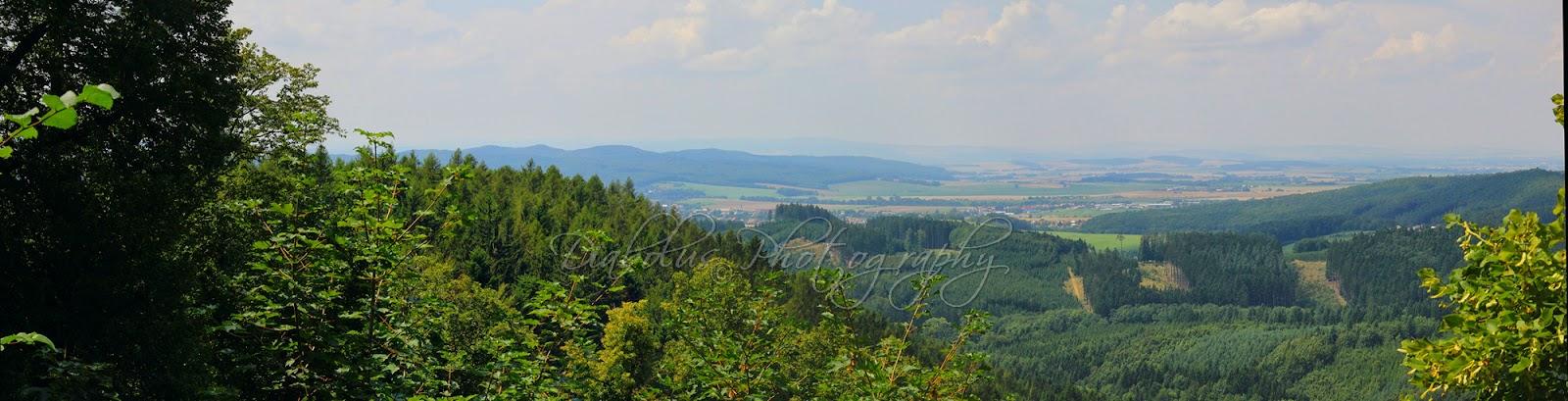 Výhled z Lukova-panorama/Lukov panorama view