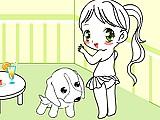 A menina e o Cachorro