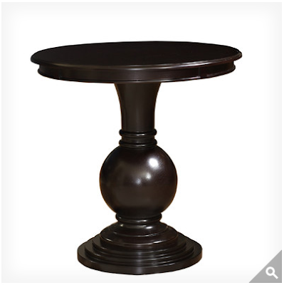 Restoration hardware vintage foyer pedestal table decor - Table vitroceramique 3 foyers ...