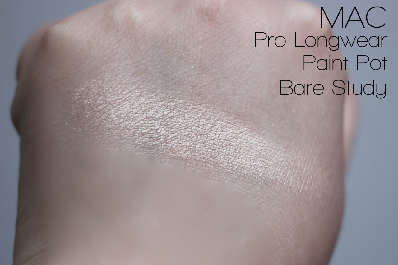 MAC Paint Pot Bare Study Swatches
