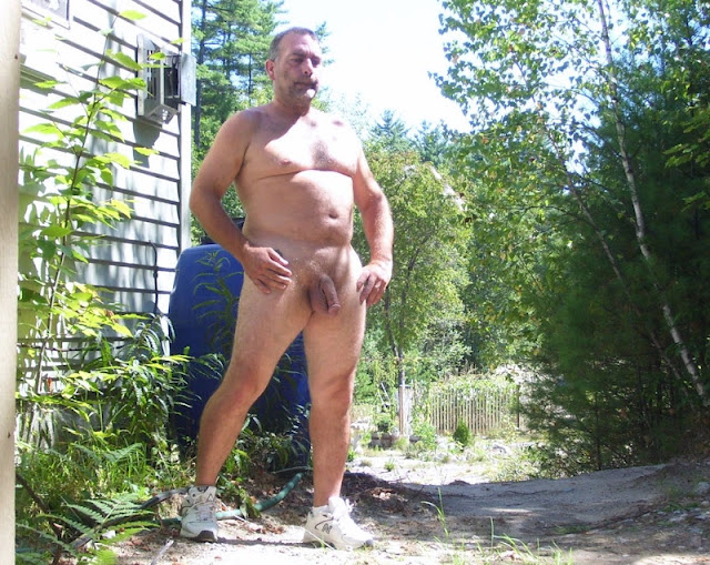 outdoorsman07012012 06 Chubby Sexy Guys Outdoors with their Cocks Hanging Out