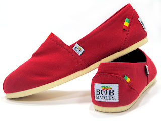 Bob Marley Shoe: Rita Shoe Red Canvas