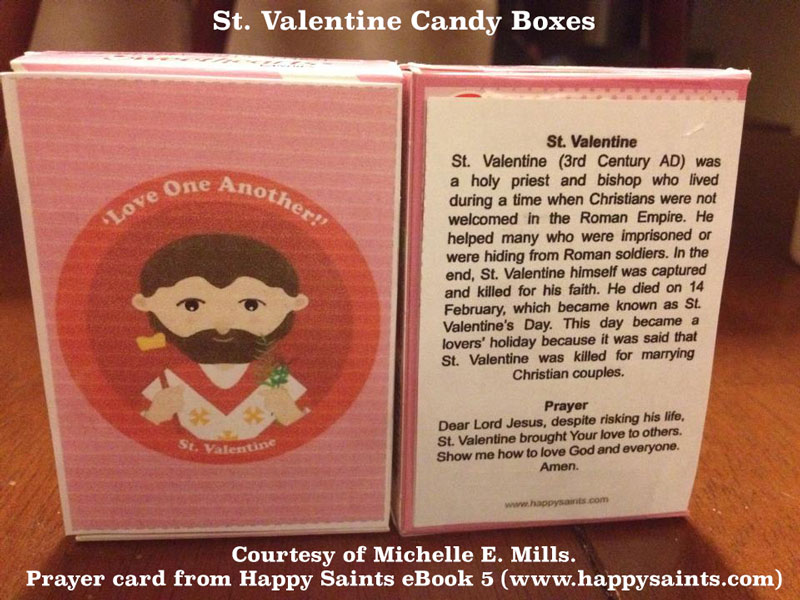 st valentine sweetheart candy boxes - Saint Valentine Prayer
