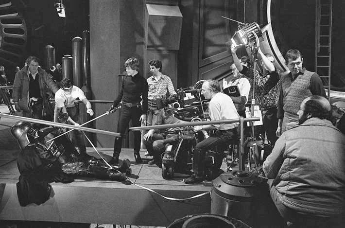 "The crew of ""Star Wars"" during the climactic scene with Luke in the second season."