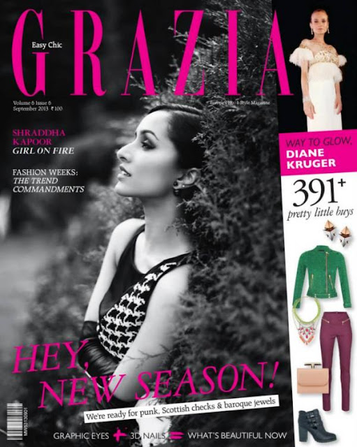 Shraddha Kapoor Aashique 2 Girl looking Hot on the covers of Grazia