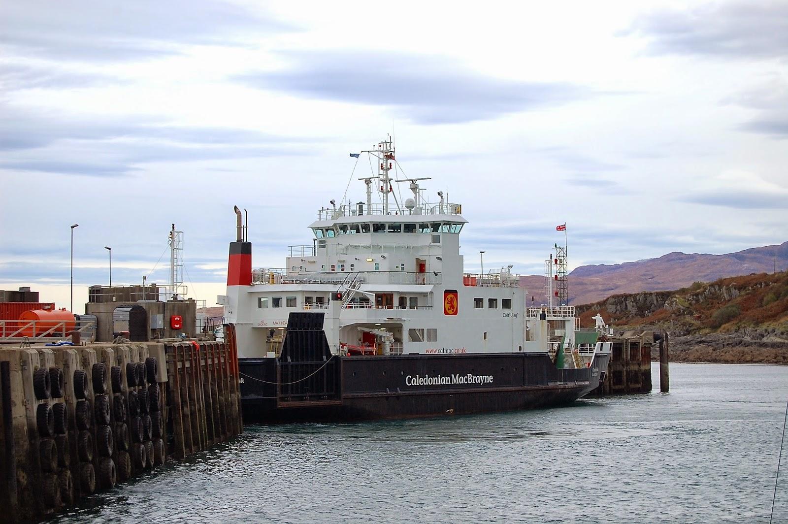 Caledonian MacBrayne ferry boat in Mallaig