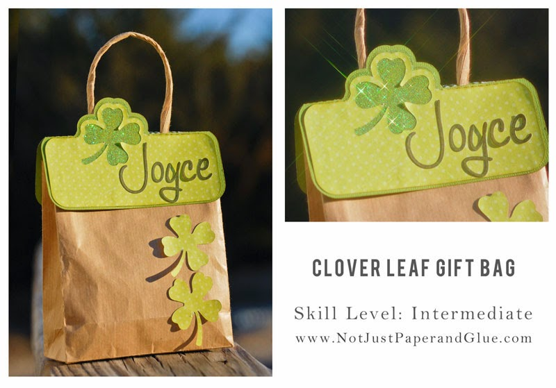 Clover Leaf Gift Bag; Skill Level: Intermediate