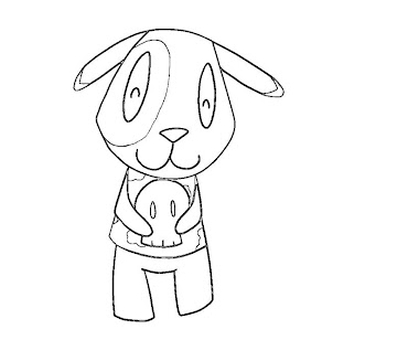 #6 Animal Crossing Coloring Page