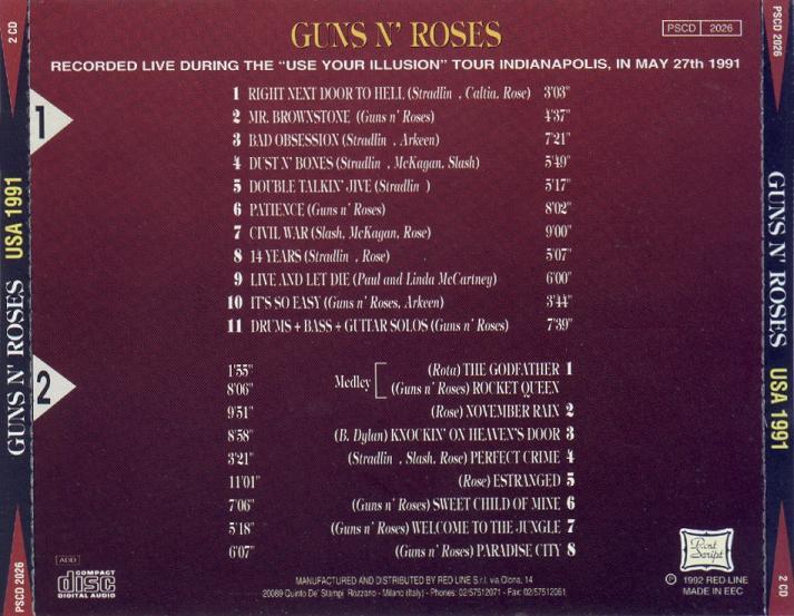 Guns N' Roses Bootlegs: [MP3] 1991-05-29 - Deer Creek