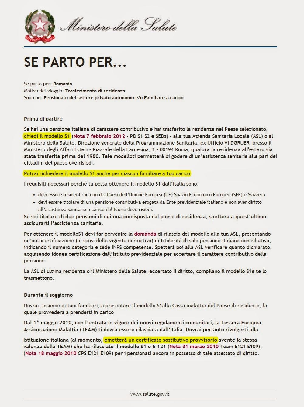 PENSII COMUNITARE / PENSIONI IN REGIME COMUNITARIO ...