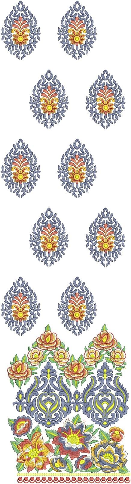 Stylish Fashionable Churidar Salwar Kameez Embroidery