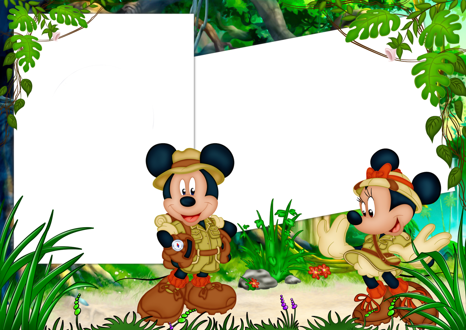 Frames PNG mickey e Minnie   Central Photoshop