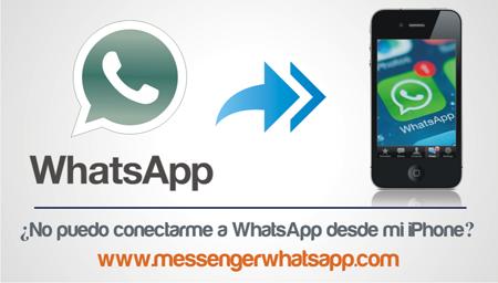 ¿No puedo conectarme a WhatsApp desde mi iPhone?