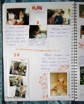 необычный фотоальбом, фотоистория семьи, необычное оформление фото