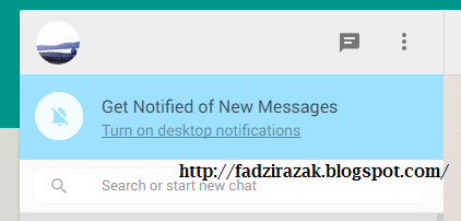 Turn on dekstop notification Whatsapp