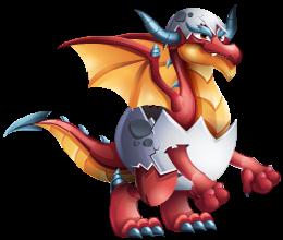 imagen del dragon huevo rojo adulto de dragon city