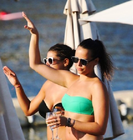 She was spotted, having fun at the beach, along with her rumored boyfriend Maxime Giaccardi,