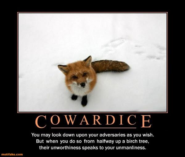 Coward Behind Facebook