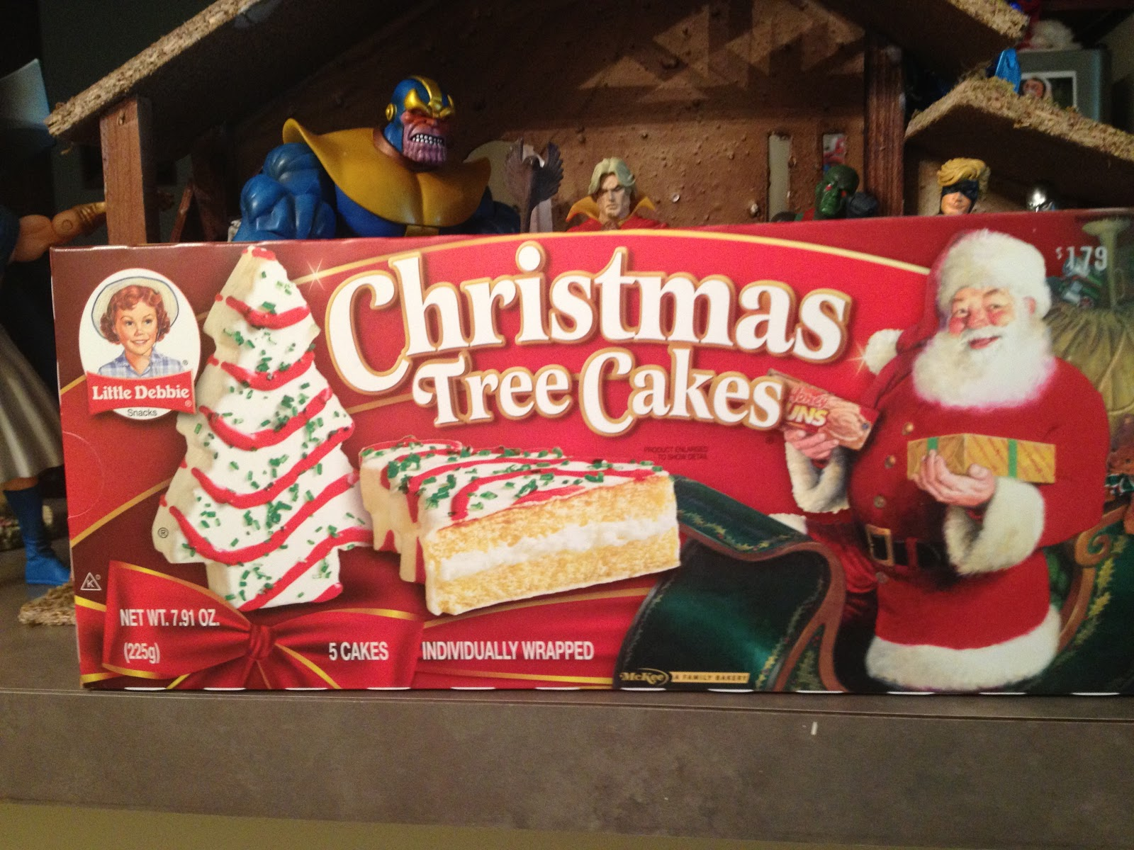 The Nerduary Christmas Treat Review Little Debbie Christmas Tree Cakes