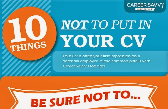 ten things not to put on your cv infographic visualistan