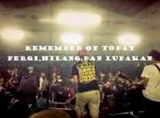 Lirik Lagu chord kunci gitar Pergi Hilang Dan Lupakan - Remember Of Today