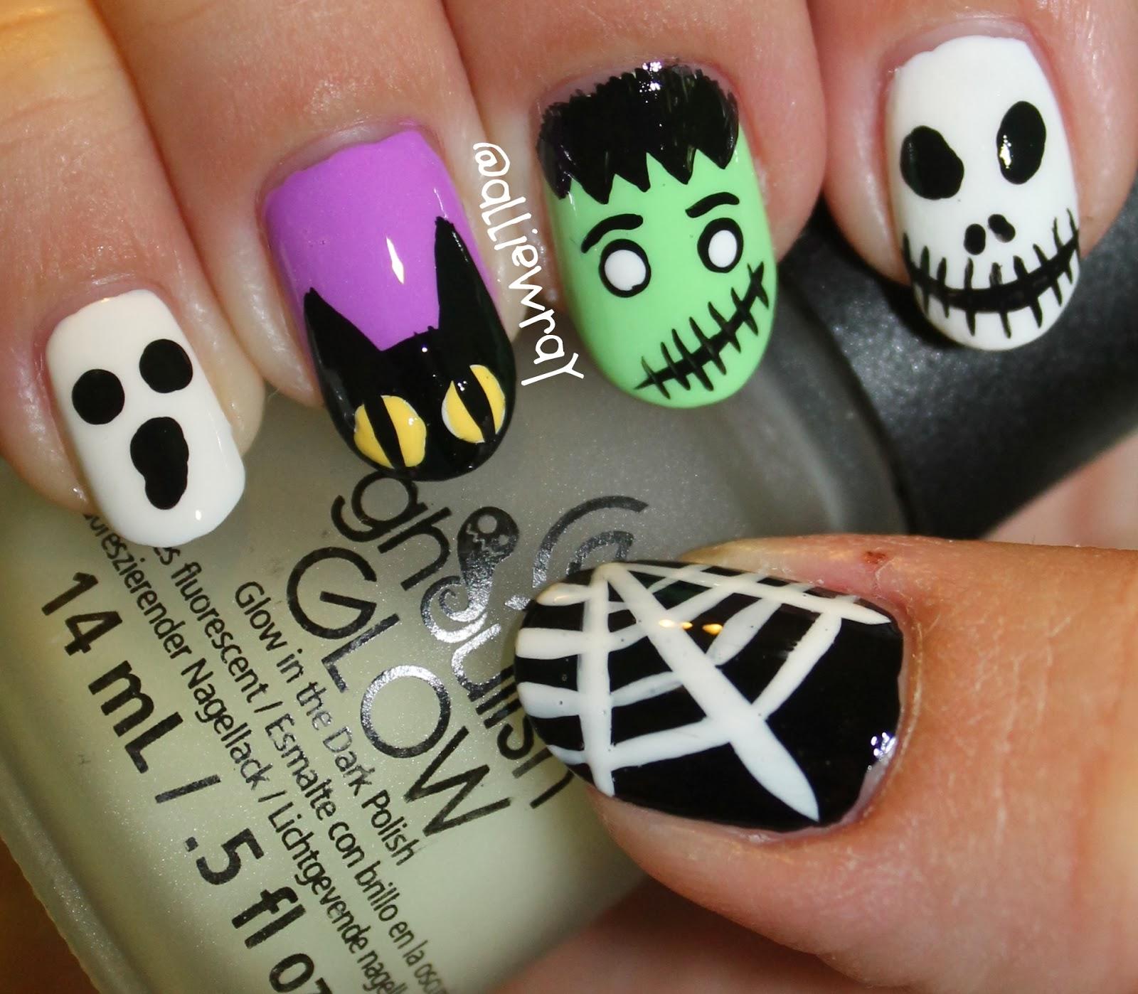 alliewray nails: halloween nails