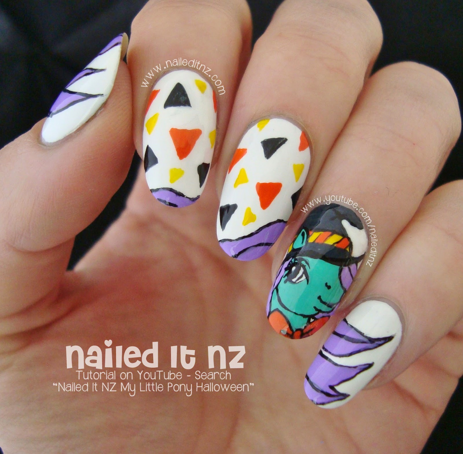 My little pony halloween nail art tutorial nailed it nz prinsesfo Gallery