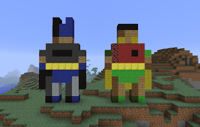 Minecraft batman and robin