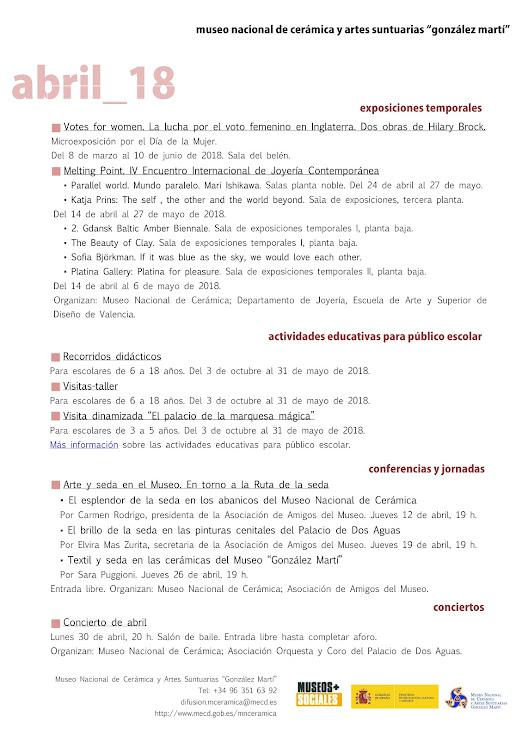 ACV 04 MUSEO GLEZ MARTÍ (01 al 30 de Abril de 2018)