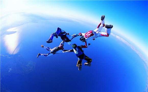 Sky Diving Adventure Wallpaper