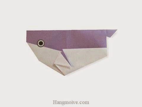 Cách gấp, xếp con cá nó bằng giấy origami - Video hướng dẫn xếp hình sinh vật dưới nước - How to fold a Blowfish
