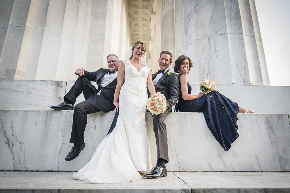 DC Wedding Photography at the Lincoln Memorial