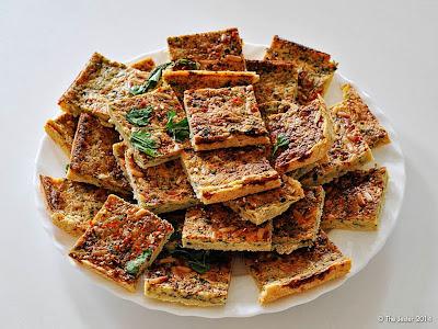 Kräutertarte als pikante Alternative zu den gesammelten Kuchen und Torten