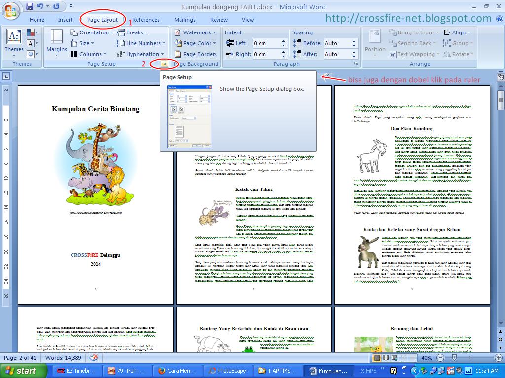 Image result for - Pencetakan dua halaman dalam selembar