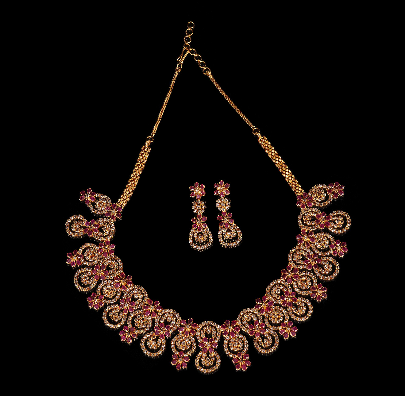 Latest Ruby Diamond Necklace
