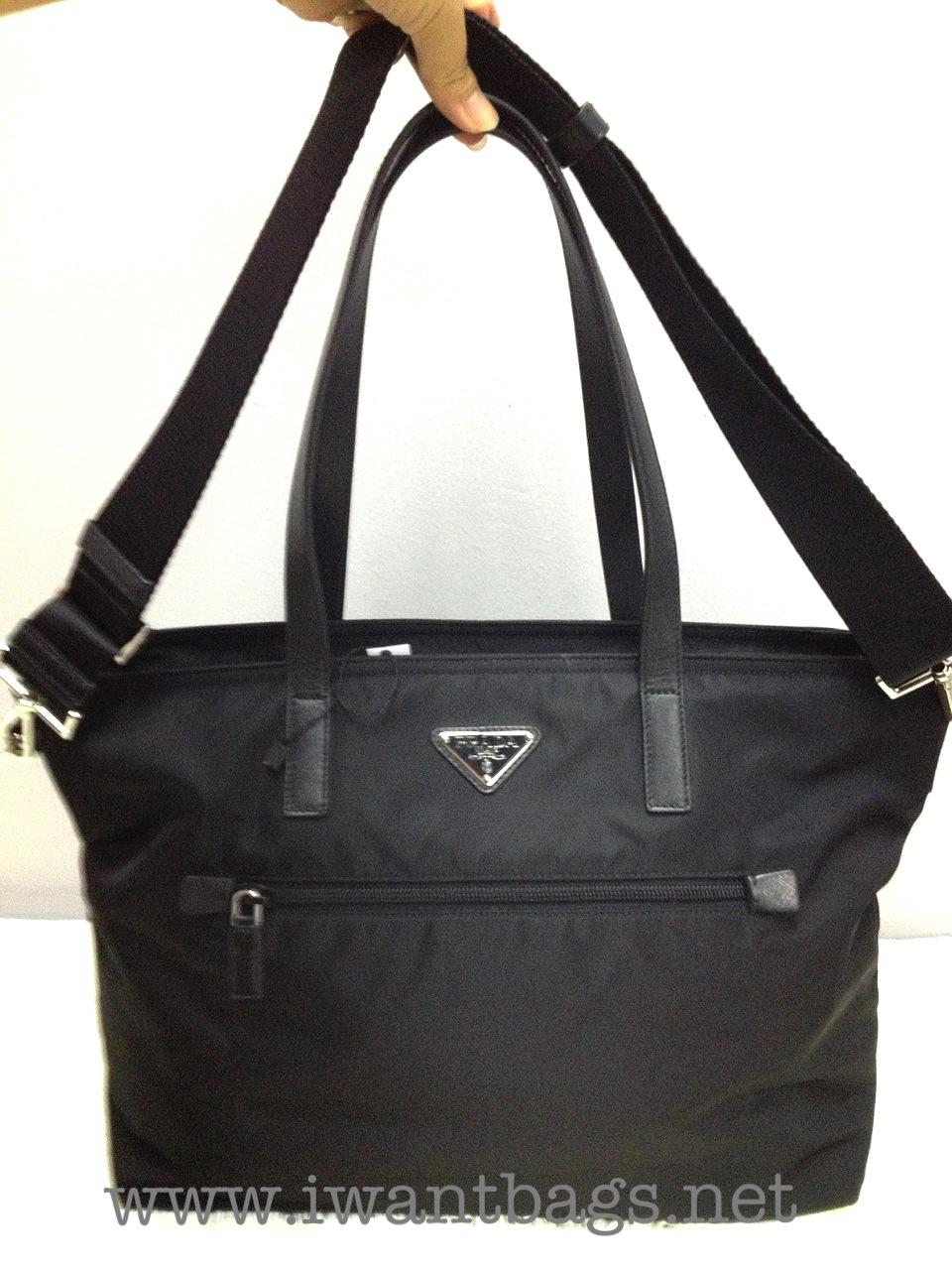 2e5e9ffdf470e1 Prada Nylon Shopping Bag With Zip (size) | Stanford Center for ...