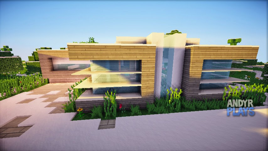 Minecraft casa moderna 1 for Casas modernas no minecraft