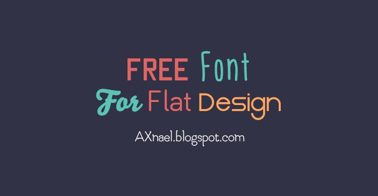 Font terbaik pilihan saya yang sangat cocok untuk flat design