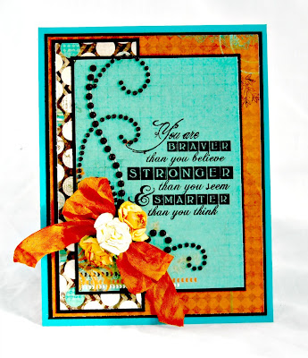 Bloggers Challenge - Bling it On, Stamps Artistic Outpost