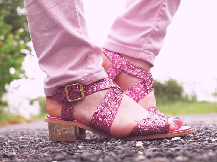 Sandales glitter rose la Halle aux Chaussures