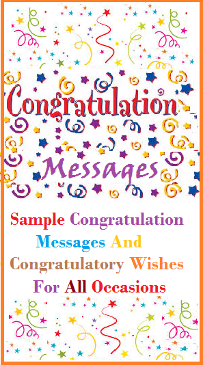 Congratulatory Wishes For All Occasions