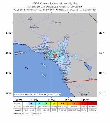 Sismos california 08 de Agosto 2012
