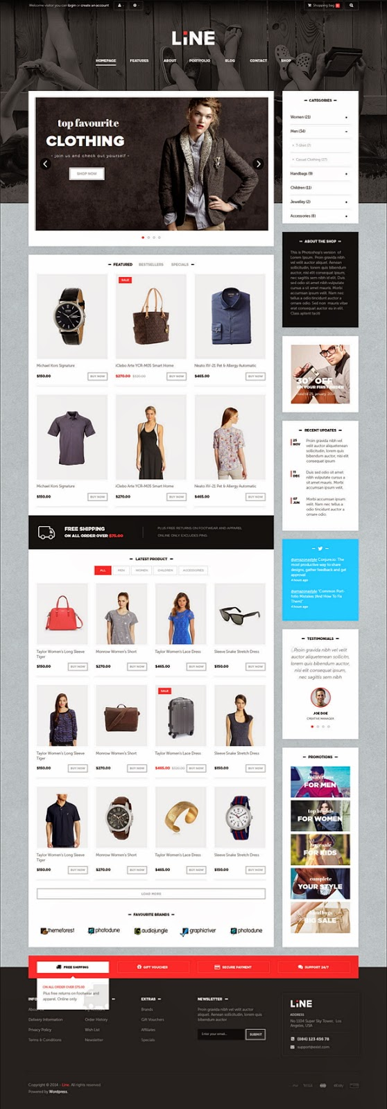 themeforest prestashop template