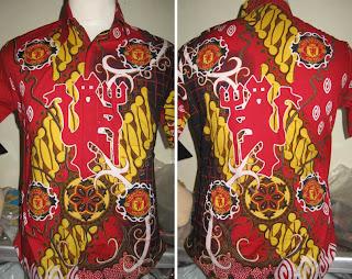 Baju Batik Motif Club Bola  Produk  Produk Batik Gajah Oling