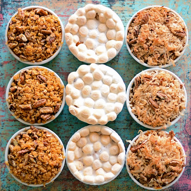 My grandfather's Sweet Potato Casserole Recipe with Three Topping Options