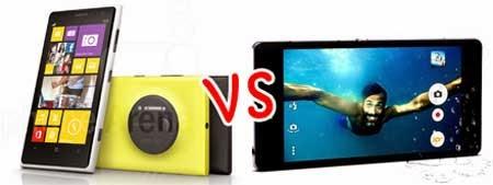 Kamera Sony Xperia Z2 vs Nokia Lumia 1020