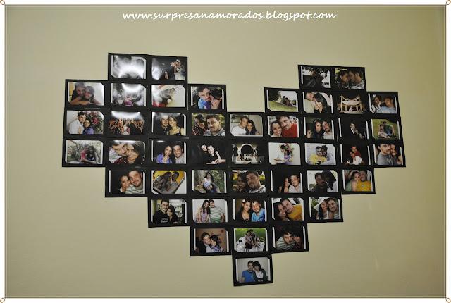 coração de fotos romântico para marido