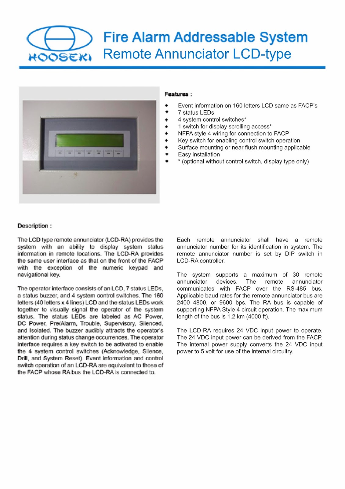 Nohmi besides Fire Pump additionally Australia Standard Addressable Fire Alarm System 60196363104 in addition Mcfa Secutron 1 Loop 159 Address also Notifier Harga Semi Addressable Fire Alarm. on addressable fire alarm system hooseki